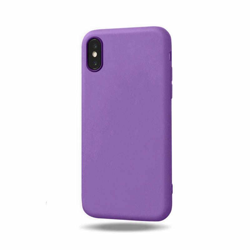 Étui pour iphone 11 Pro Max Housse En Silicone couvercle de téléphone flexible en polyuréthane thermoplastique Pour Apple Iphone X XS Max XR 7 8plus 6 6S 5 5S SE Couvrir