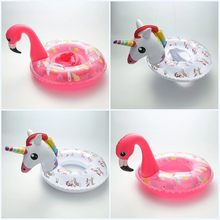New Pattern Inflatable Flamingo Unicorn Swimming Circle Baby Seating Float Armpit Circle Children Swimming Pool Toys Summer Toys(China)