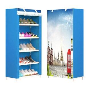 Image 2 - ขายตั๋วรัสเซียสต็อกชั้นวางรองเท้าตู้รองเท้า Rack Space Saver BOOT Organizer ชั้นวางเฟอร์นิเจอร์ DIY ASSEMBLY Non ทอ