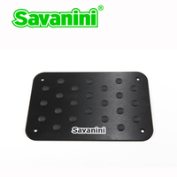 Savanini Car Aluminum alloy Non slip Environmental Rubber Carpet pedal Floor Mat car accessories styling free shipping
