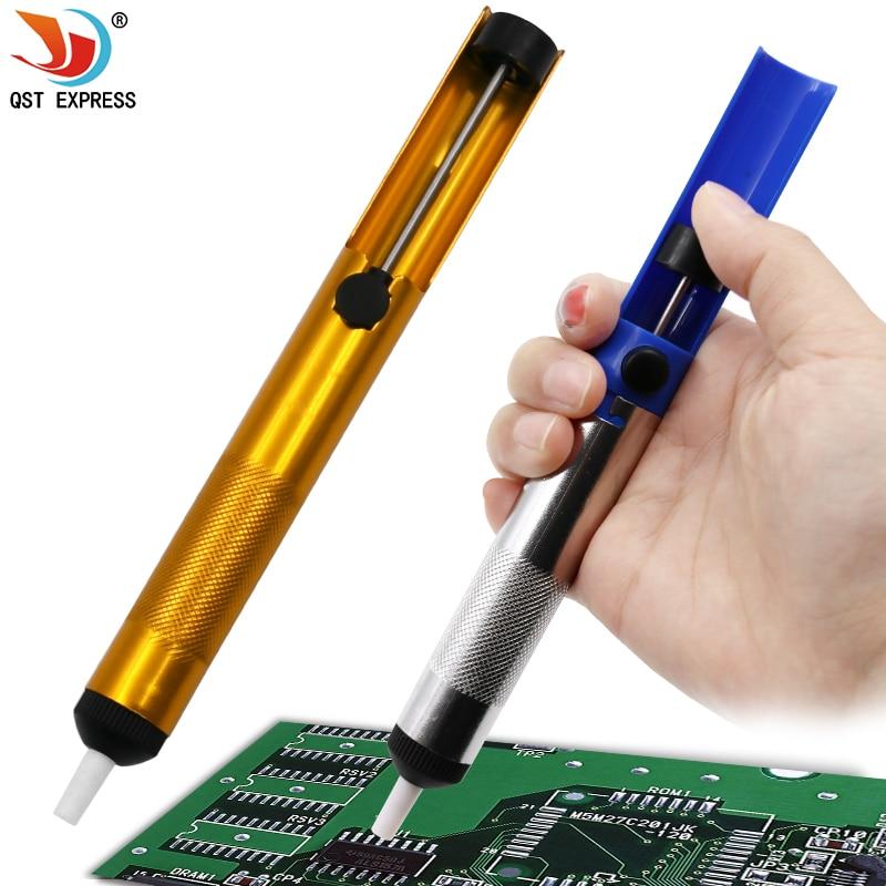 Aluminum Metal Desoldering Pump Suction Tin Gun Soldering Sucker Pen Removal Vacuum Soldering Iron Desolder Hand Welding Tools