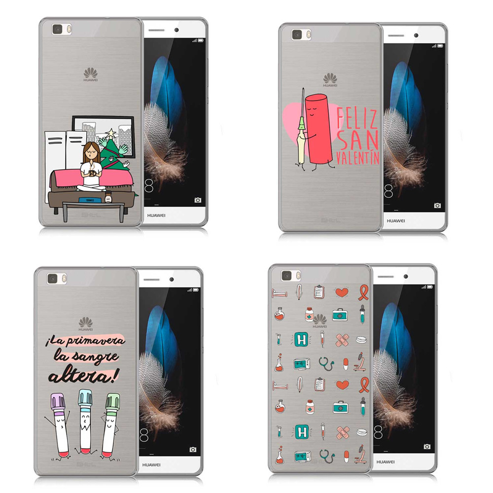 Half-wrapped Case Cellphones & Telecommunications Shop For Cheap Spain Cartoon Medicine Doctor Case For Huawei P8 P9 P10 P20 Lite Pro 2017 Case Cute Nurse Injection Soft Tpu Silicon Cover Coque