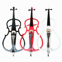 New 4 4 Electric Dark Wood Cello Instrument Handmade Silent Powerful