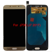 SzHAIyu Tested OLED AMOLED LCD Display Touch Screen For Samsung Galaxy Samsung Galaxy J730 J7 2017