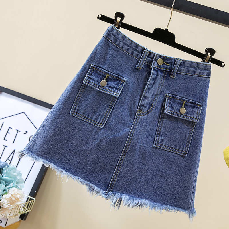 4xl plus große größe vintage röcke frauen 2018 sommer frühling koreanische vestido feminina jeans neue hohe taille denim röcke weibliche a4987