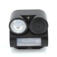 VICTMAX PIR Ultra-sônica Defletor Pássaro Lanterna Pássaro Repeller Controle Com LED Lanterna Fontes Do Jardim