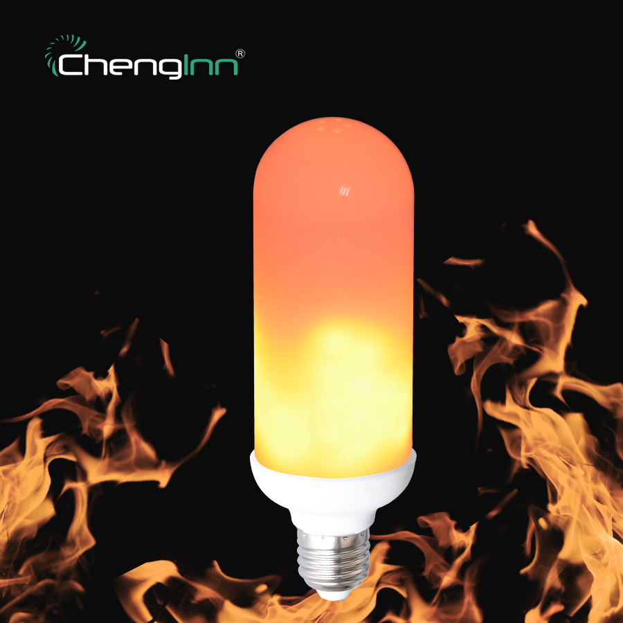 Flame Effect Fire Light Bulb 2835SMD E27 7W LED Lamp Bulbs Creative Lights Flickering Emulation Atmosphere Decorative Party Lamp