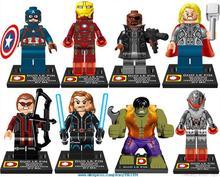 Presale Dargo 9005 Building Blocks Super Heroes Avengers Crystal Clear Ultron Minifigures Iron Man Hulk Bricks Mini Figures