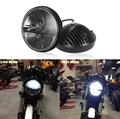 "7 ""levou Farol Da Motocicleta Farol Daymaker Lâmpada LED H4 Hi-Lo Feixe Lâmpada De Moto para Harley Yamaha V-estrela 650 1100 Road Star"