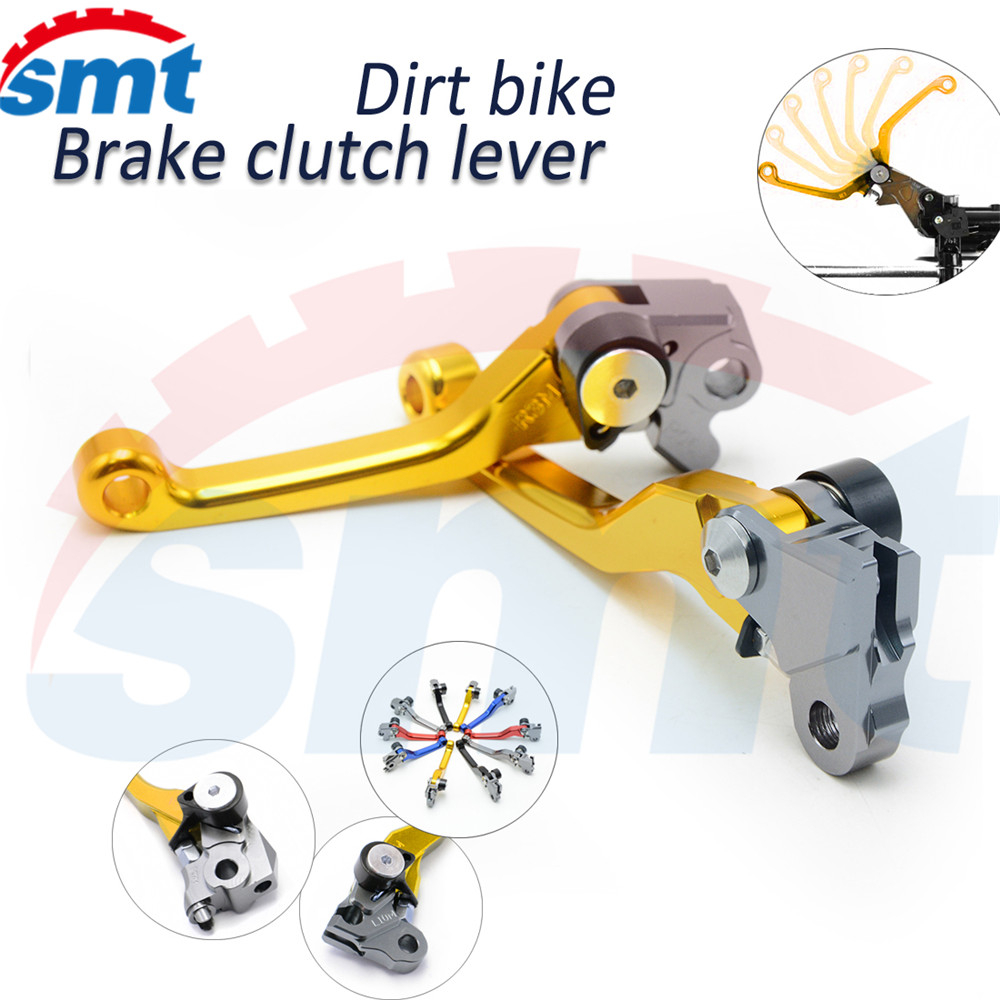 Motocross CNC Pivot Brake Clutch Levers Golden Color Yamaha YZ426F YZ450F 2001 2002 2003 2004 2005 2006 2007 - SMT Motorcycle ZONE store