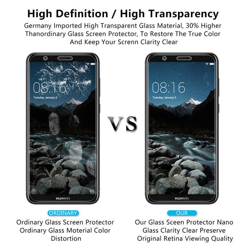 2 Pcs 9H Ultra Tipis Tempered Glass Di untuk Huawei P Smart 2019 Mate 20 Lite P20 P30 Lite kehormatan 8X 7X 6X 6A Layar Film Pelindung