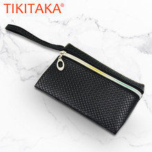 Ritsleting Wanita Dompet Ponsel Bag Leather Case untuk iPhone X 8 7 6 6 S Plus untuk Samsung Galaxy S7 tepi S6 Xiaomi Mi5 Redmi 3S Note3 4(China)