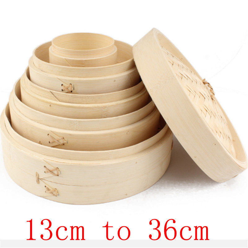 One Cage Or Cover Cooking Bamboo Steamer Fish Rice Vegetable Snack Basket Set Kitchen Cooking Tools Dumpling Steamer Steam Pot