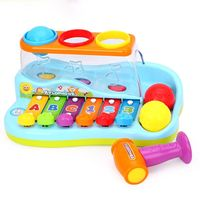 1PC Mini Colorful Xylophone Kids Percussion Musical Instrument Toddlers Durable Plastic Pounding Early Educational Toy Kids