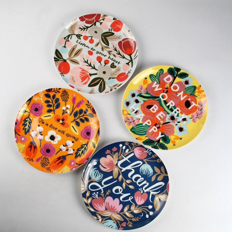 Western style fruit plate Household dish tableware Innovative design tableware creative decorative ceramic 10 inch dish