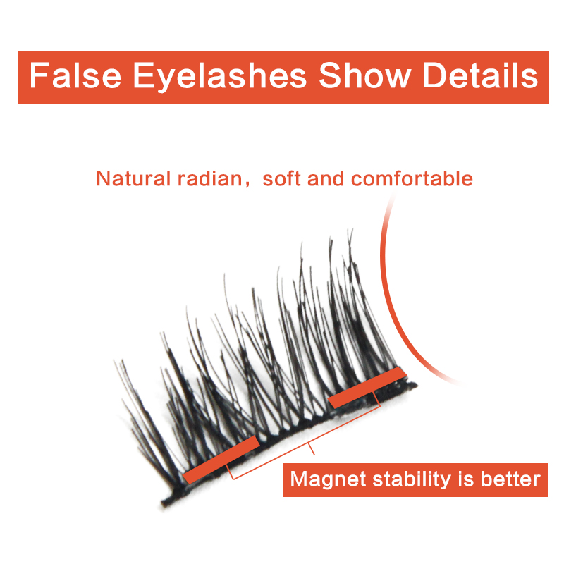 4Pcs Double Magnetic Eyelashes Maquiagem False Lashes Magnetic Eye Lashes False Eyelashes eyelashes extension kit russian volume