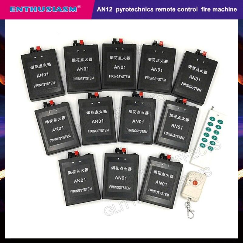 12 canaux AN12 télécommande sécurité professionnelle incendie machine pour salon de mariage