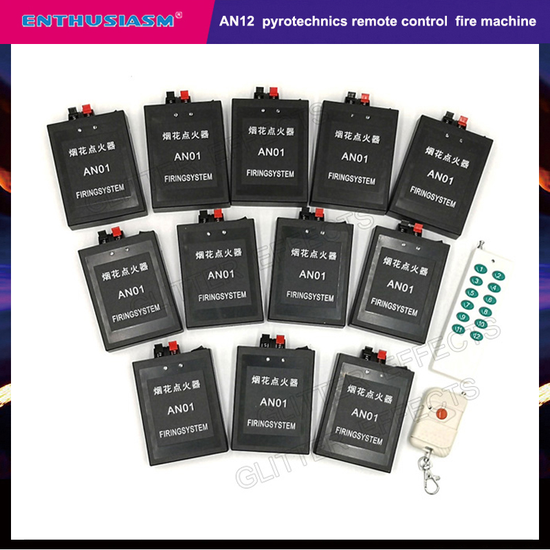 12 Channels AN12 Remote Control Safety Professional Fire Machine For Wedding Party Show