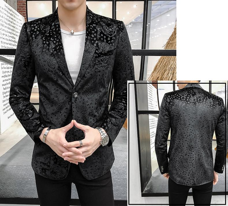 Plus Size M 5XL Stage Mens Blazer Jacket Suits Tiger Print Tuxedos Men 39 s Blazers and Suit Jackets Stage Business Casual Slim in Blazers from Men 39 s Clothing