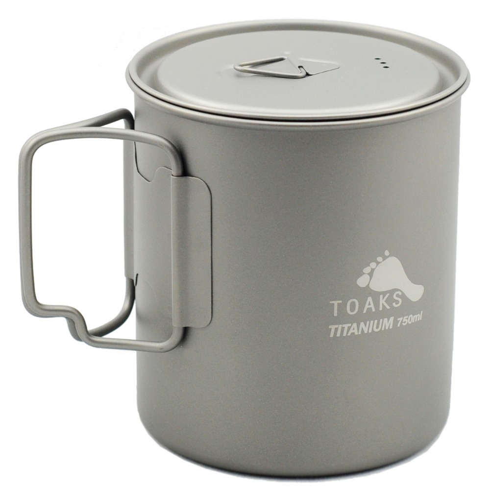 TOAKS Outdoor Hiking Camping Picnic Titanium Pot Mug Bowl 3 in1 Lightweight Camping Equipment 500ml 650ml 750ml 1100ml