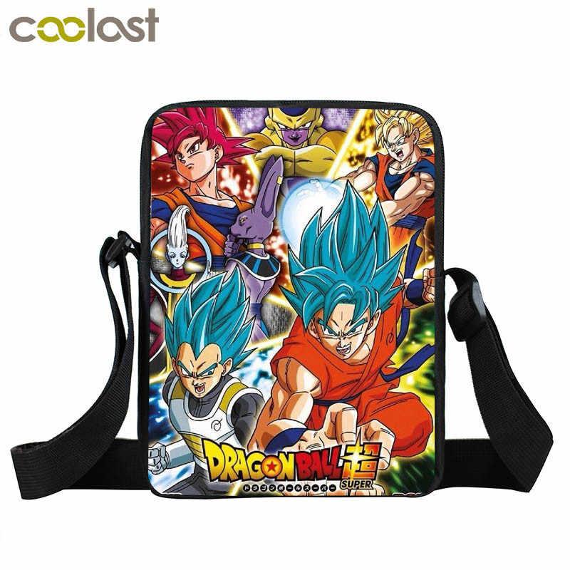 0c8d918579a5 ... Аниме Dragon Ball небольшой мешок плеча Супер Saiyan Goku Гохан мальчики  девочки мини Курьерские сумки детские ...
