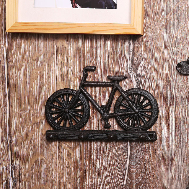 Vintage Rustic Cast Iron Motorcycle Bicycle Wall Hook For Room Home Garden Decor Decoration Accessories