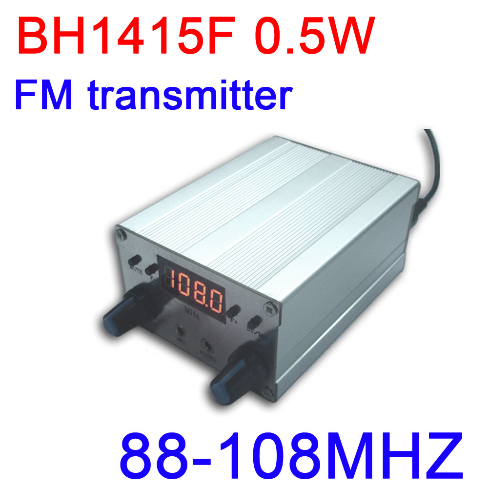 BH1415F 0.5W FM stereo Transmitter 88M-108MHZ FM Transmitter board FM Radio receiver PLL audio Digital led display frequency