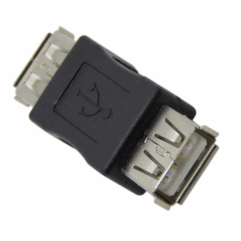 Mini convertidor de seguridad USB 2,0, adaptador de conector hembra a hembra, Cables prácticos de ordenador y accesorios de conectores