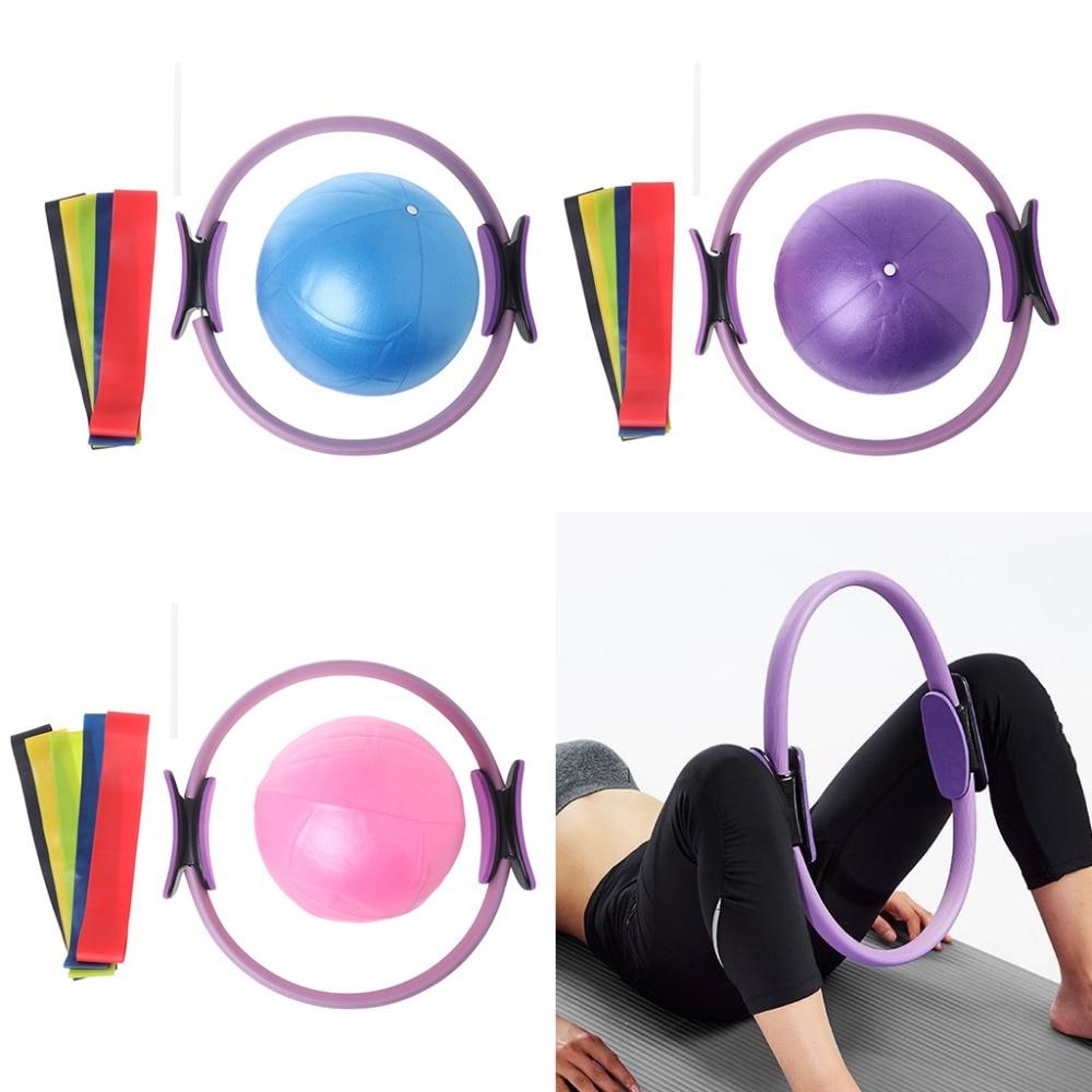 ①  1 комплект пилатес фитнес-кольцо кольца йога мяч тренажеры экспандер ①