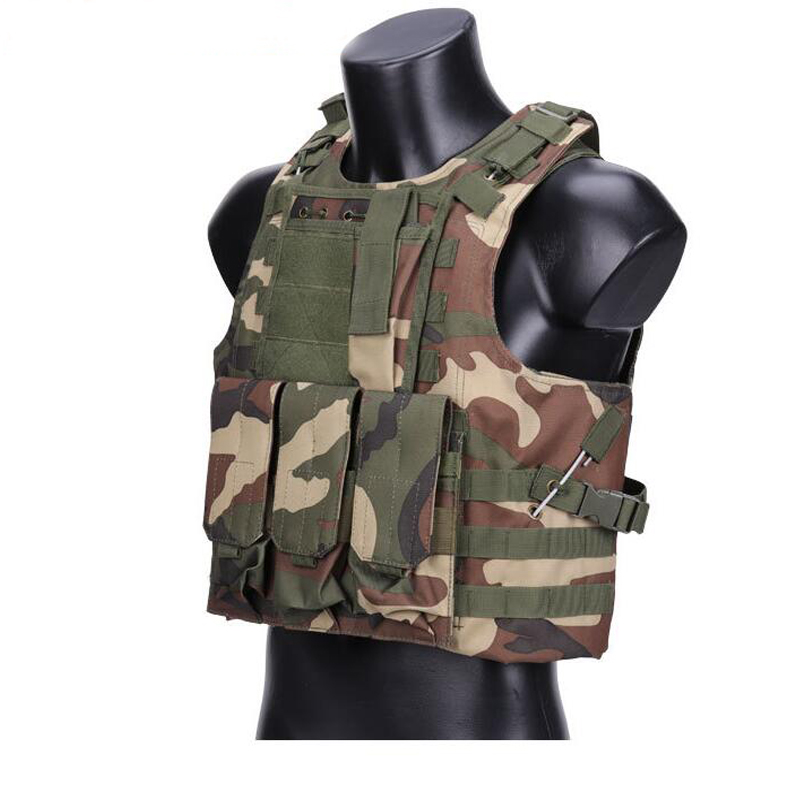 Tactical Vests Amphibious Camouflage Combat Protection Vest Hunting Airsoft Paintball Plate Carrier CS Outdoor Tactical Vest airsoft adults cs field game skeleton warrior skull paintball mask