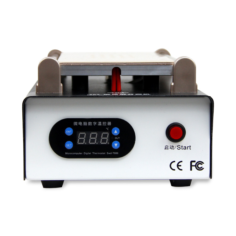 цена на TBK-988 New 7 Manual inch LCD separator machine built-in vacuum pump screen separating machine for Mobile phone ipad