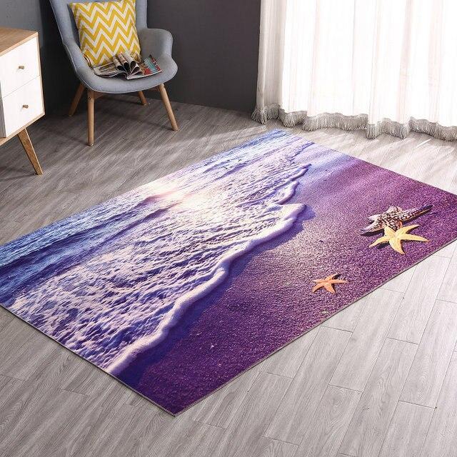 Zeegle Printed Hallway Mats Floor Carpets For Bedroom Living Room Tea Table Rugs Anti