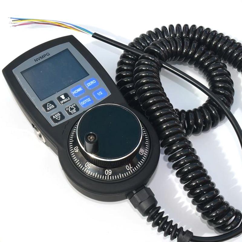CNC 6 осевой маховик Mach3 MPG ручной импульсный генератор с ручным колесом NVMPG Последовательная связь с ЖК дисплеем - 3