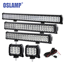"Oslamp 4"" 20"" 23"" 28"" 12"" 31"" LED Work Light for Boat SUV ATV Pickup 3 Row Straight Led Light Bar Offroad Driving LED Bar Light"