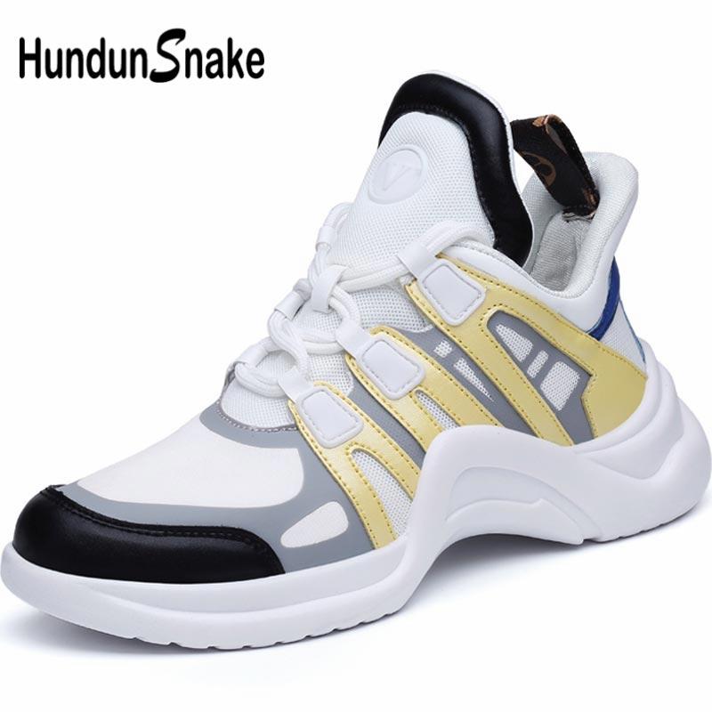 Hundunsnake Summer Women's Sports Shoes 2019 Dames Sneakers Women Running Shoe Sport Women Tennis Shoe High Top Walk White B-065