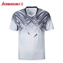 Kawasaki, дышащая мужская рубашка для бадминтона, быстросохнущая, короткий рукав, футболки для тренировок, мужская спортивная одежда, ST-S1114