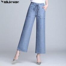 Модные женские джинсы с высокой талией, женские джинсы для мам, Широкие джинсовые женские джинсы для женщин, джинсы для женщин, большие размеры