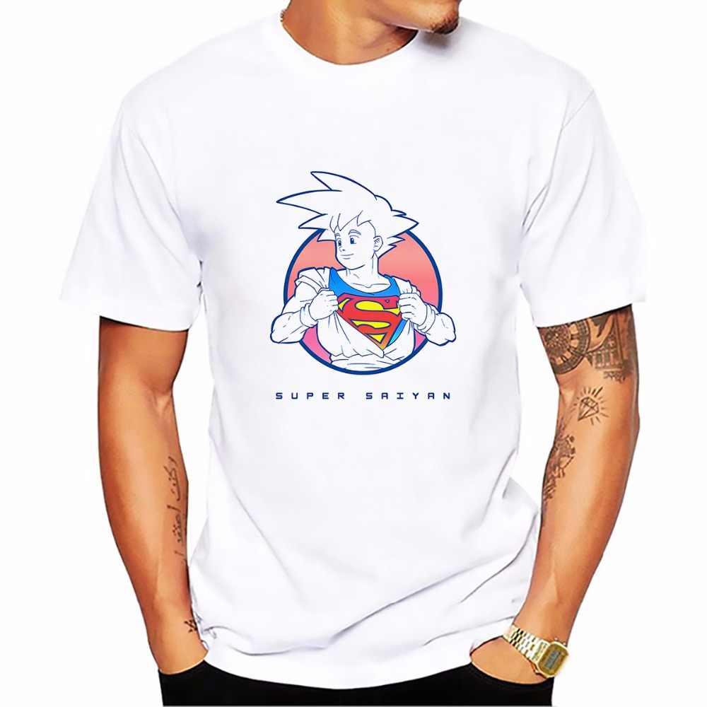 Dragon ball z Супер Саян Гоку забавная футболка homme jollypeach Новая повседневная футболка мужская футболка с коротким рукавом плюс размер
