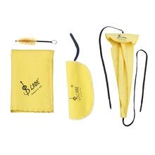 Саксофон Sax Набор Для Ухода За чисткой 3 шт. ткань для чистки+ щетка для мундштука духовой инструмент техническое обслуживание приборов