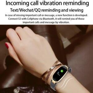 Image 3 - カラー画面防水S3プラススマート腕時計女性レディース心拍数モニタースマートウォッチレロジオinteligenteアンドロイドiosリロイ