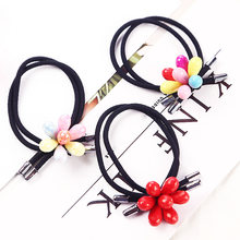 Handmade Wedding Gifts 1PC Korean 3 Colors Hair Rope Graceful High Quality Elasticity Hot Sale Seven Petals Beautiful Exquesite(China)