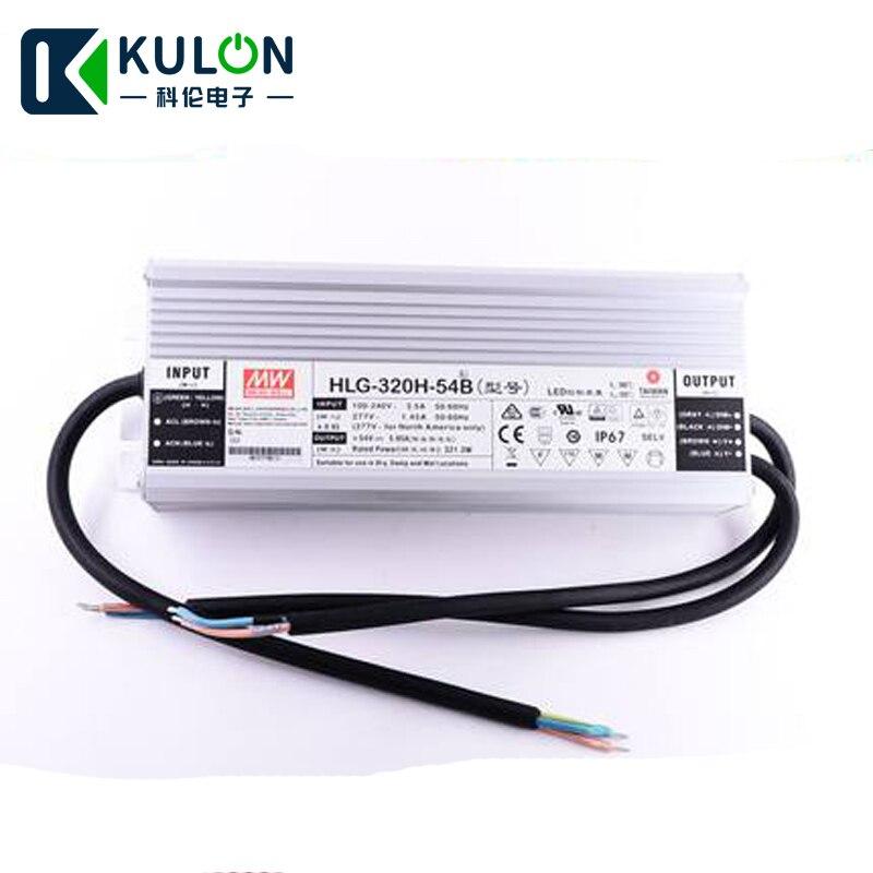 Variateur pour LED d'origine Meanwell HLG-320H-54B 320 W 5.95A 54 V IP67 3 en 1 gradation étanche moyenne bien alimentation LED