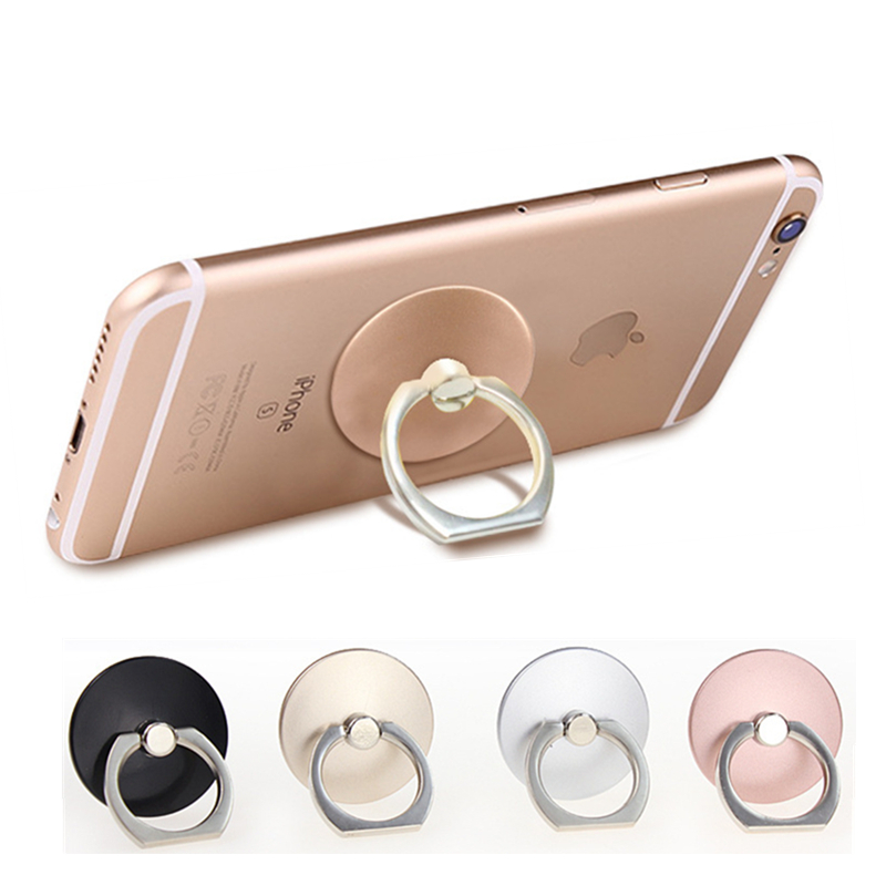 10PCS/LOT Round 360 Degree Metal Anti-drop Mobile Phone Finger Ring Holder Desk Stand For Phone iPhone samsung tablet iPad