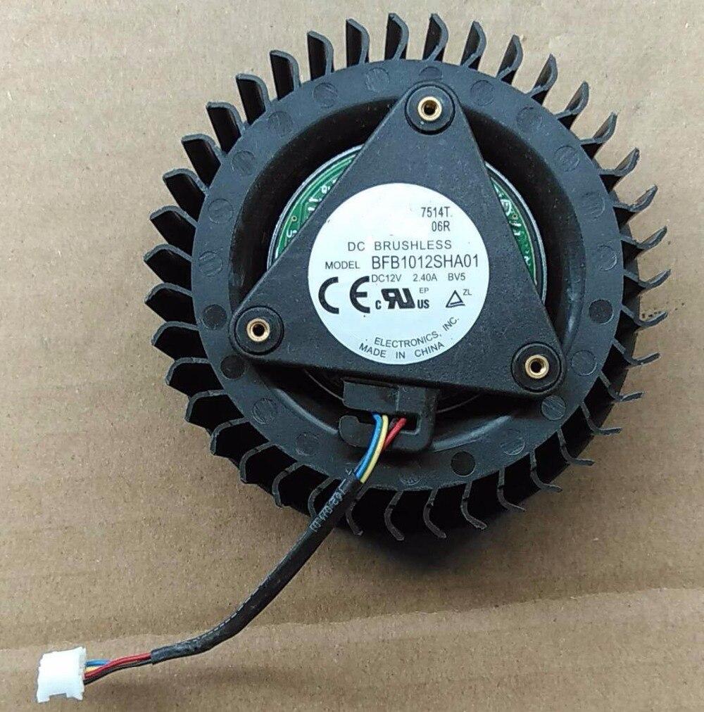 2 pcs VENTILATEUR POUR DELTA BFB1012SHA01 BV5 12 v 2.4A Référence R9 390x AMD R9 390X RX580 XFX RX VEGA 56 ventilateur R9 390X ventilateur Carte Graphique