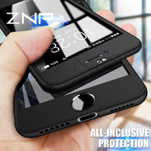 ZNP 360 Degree Full Cover Case For iPhone 8 7 6 Plus 6s With Tempered Glass Cases For iphone 8 7 6 Protection Case Capa Coque