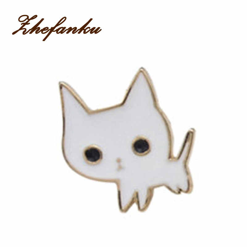 2017 Alloy Enamel Pink Wine Glass Cup Bottle Hand Rose Cat Broche Badges Lapel Pins Safe Brooche Scarf Women Gifts New Trend