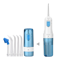 Water Flosser for Teeth,Cordless Oral Irrigator Floss Water Jet with 2 Jet Nozzles 200ml Reservoir,IPX7 Waterproof USB Recharge