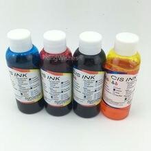 Envío gratis 100 ML x 4 unids Universal comestible tinta para Canon escritorio impresora de inyección de tinta BK cmy