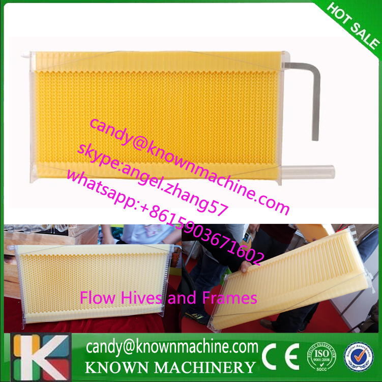 To Brazil Honey flow hive 7 pcs flow hive frames EMS shipping 5 beekeeping bee hive frames honey container honey lattice produce box 250g