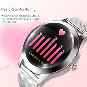 Image 3 - KW10 スマート腕時計女性IP68 防水心拍数モニターbluetoothアンドロイドios用フィットネスブレスレットスマートウォッチ